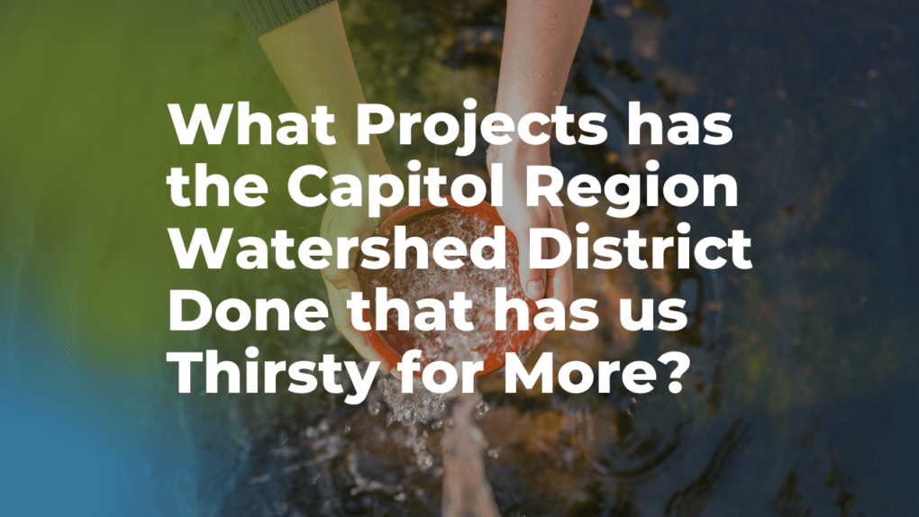 Capitol Region Watershed District projects that have us thirsty for more
